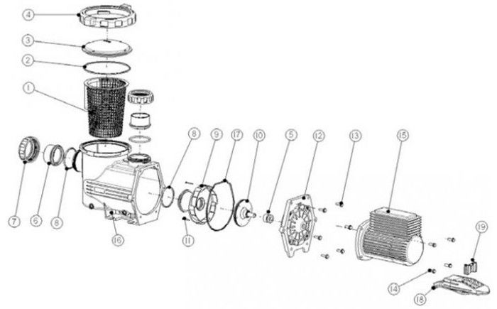 Astral BX Pump Parts