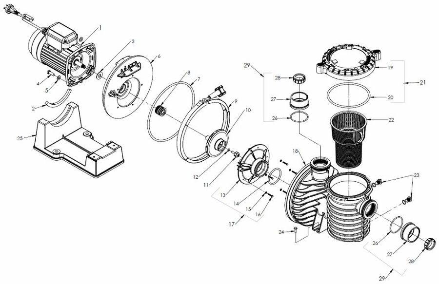 Pentair Max-e-Pro Pump Parts