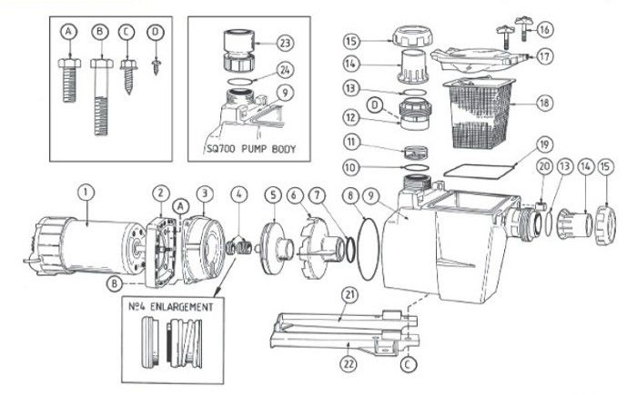 Poolrite SQI Pump Parts