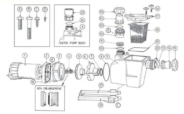 Poolrite SQI Pump Parts
