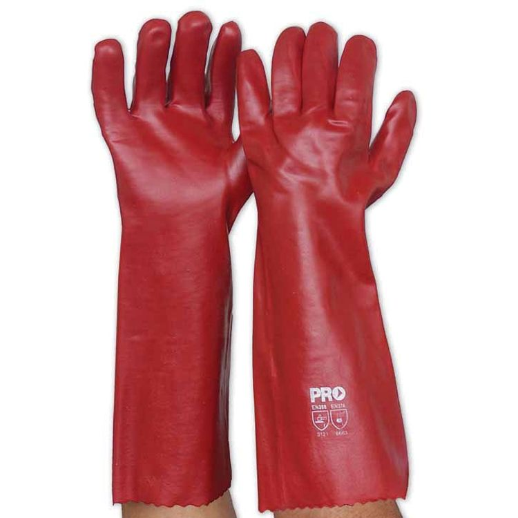 Chemical Resistant Gloves 45cm PVC Dipped