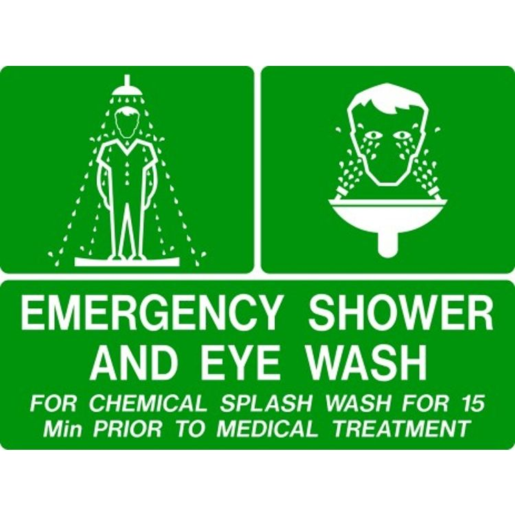 Emergency Shower  Eye Wash Safety Sign
