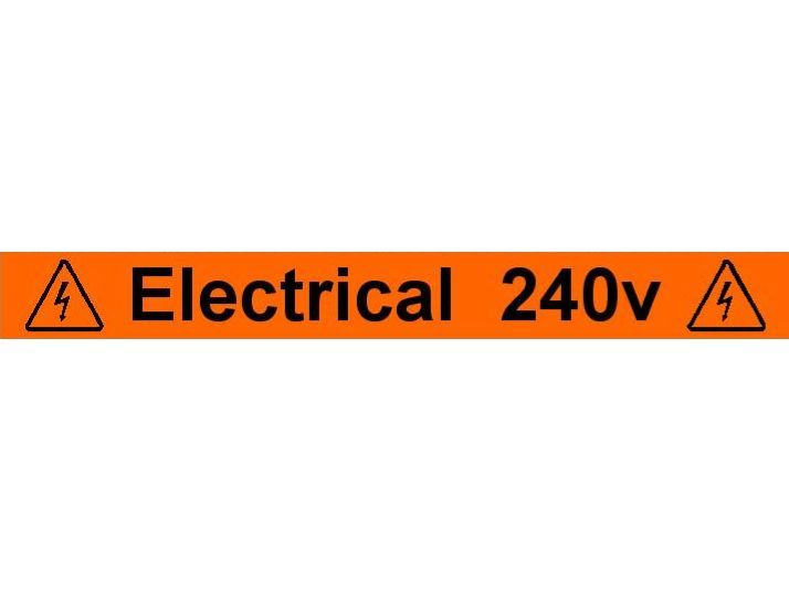 Equipment Label  Electrical 240v