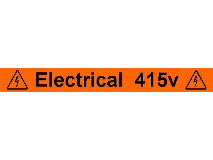 Equipment Label  Electrical 415v