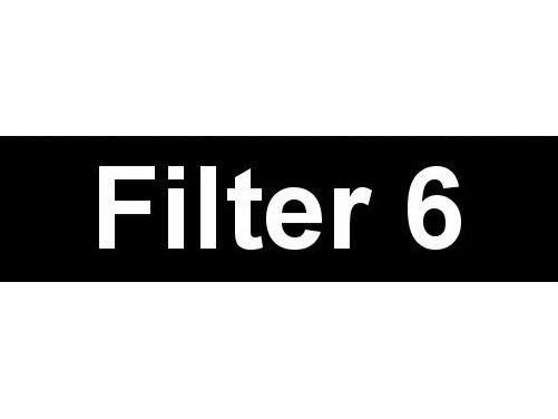 Equipment Label  Filter 6