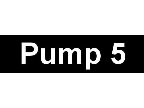 Equipment Label  Pump 5