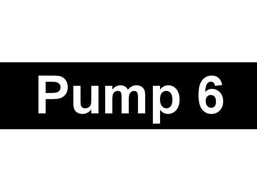 Equipment Label  Pump 6