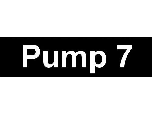 Equipment Label  Pump 7