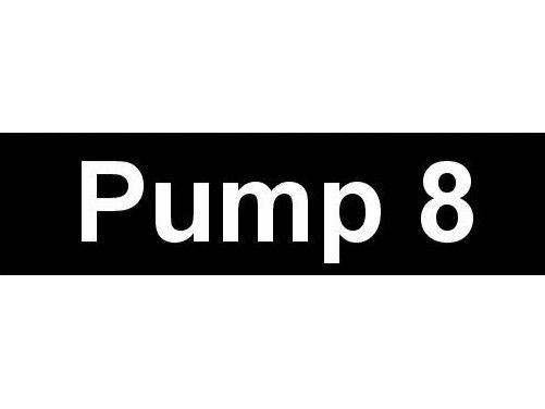 Equipment Label  Pump 8