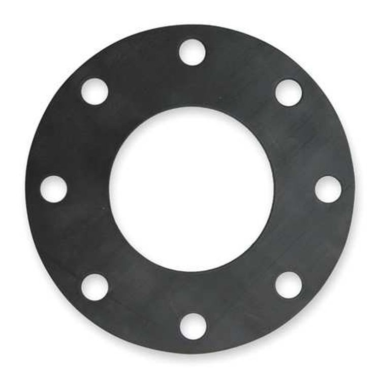 Flange Gasket  Natural Rubber 3mm Thickness 125mm Table DE