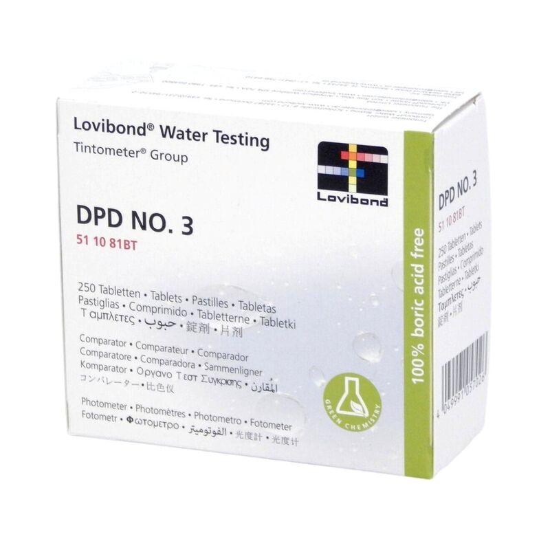 Lovibond Photometer Reagents Total Chlorine DPD3 250 Tablets