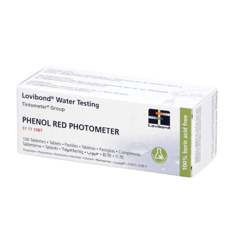 Lovibond Photometer Reagents pH PHENOL RED 100 Tablets