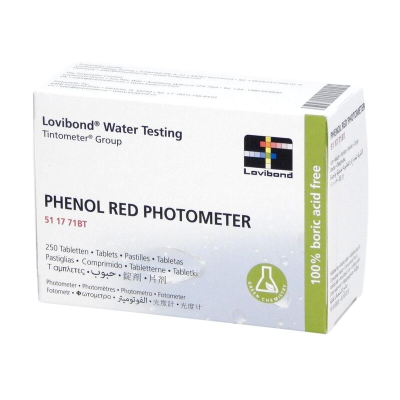 Lovibond Photometer Reagents pH PHENOL RED 250 Tablets