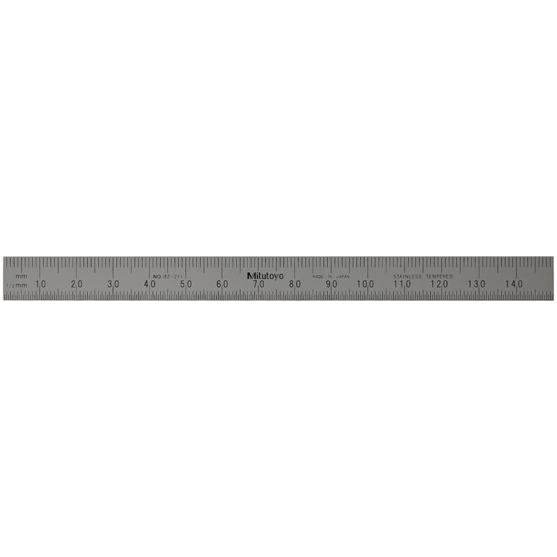 Mitutoyo Stainless Ruler 150mm Fully Flexible 182211