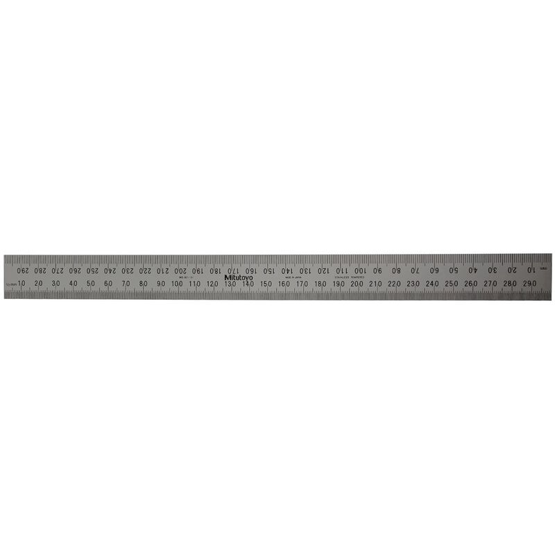 Mitutoyo Stainless Ruler 300mm Rigid 182131