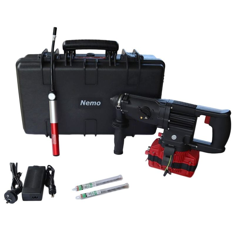 Nemo 22v Underwater SDS Rotary Hammer Drill Kit 50m With 1 x 3Ah Battery