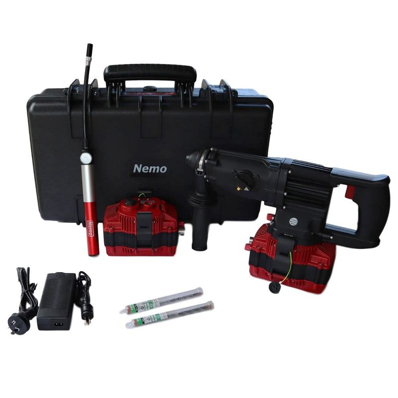 Nemo 22v Underwater SDS Rotary Hammer Drill Kit 50m With 2 x 6Ah Batteries