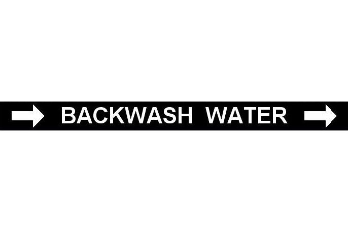 Pipe Label  Backwash Water Right