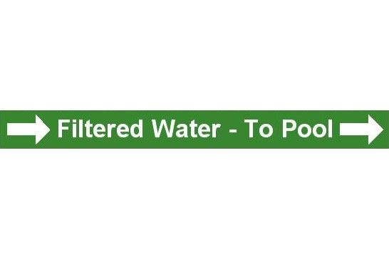 Pipe Label  Filtered Water To Pool Right