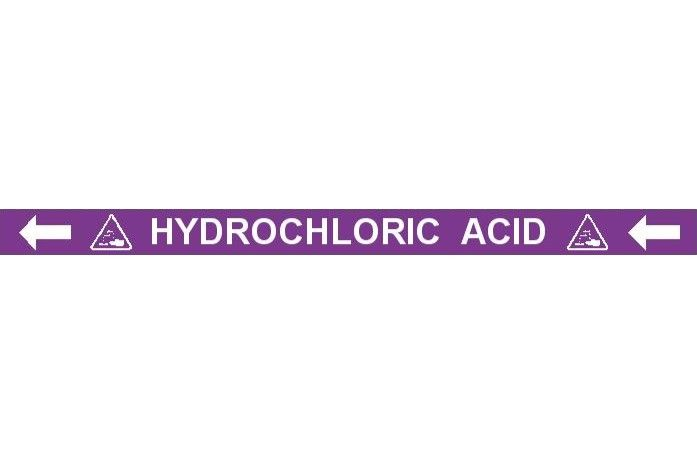 Pipe Label  Hydrochloric Acid Left