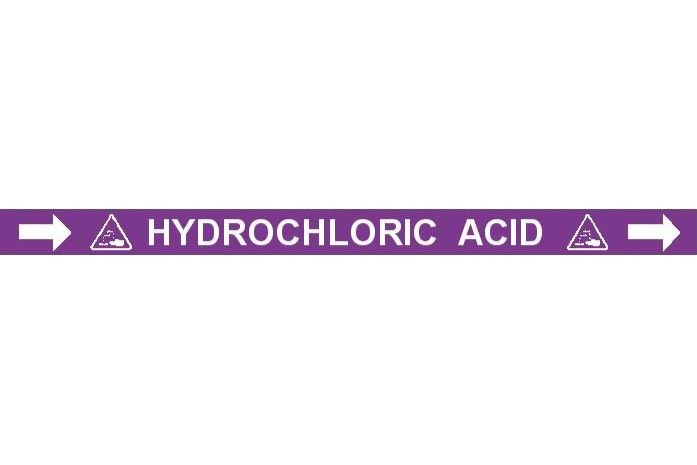 Pipe Label  Hydrochloric Acid Right