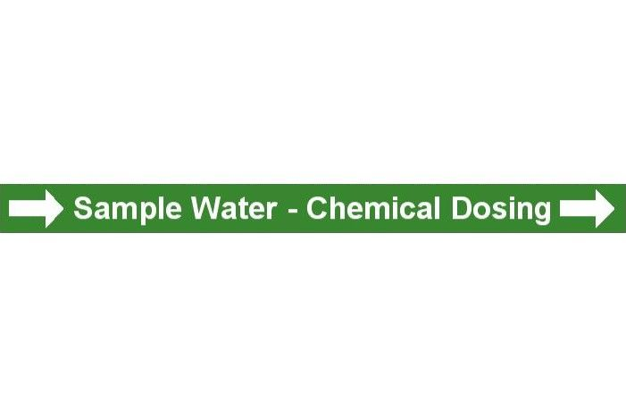 Pipe Label  Sample Water Chemical Dosing Right