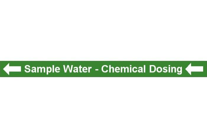Pipe Label  Sample Water To Chemical Dosing Left