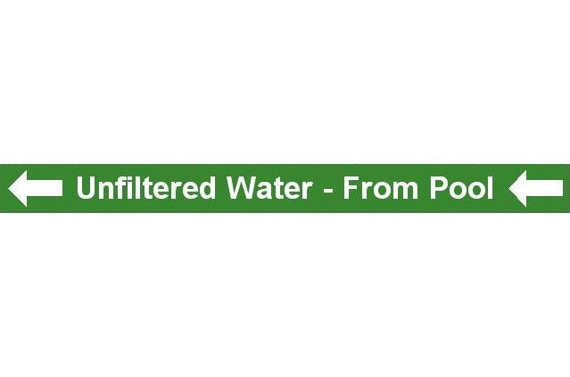 Pipe Label - Unfiltered Water (Left)