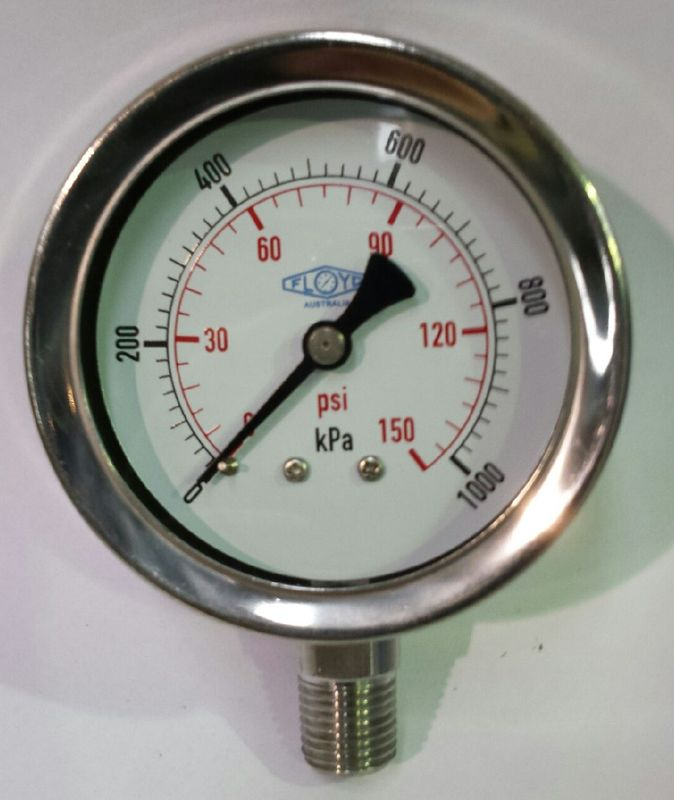 Pressure Gauge  63mm Bottom Entry  01000 kPa Stainless Steel