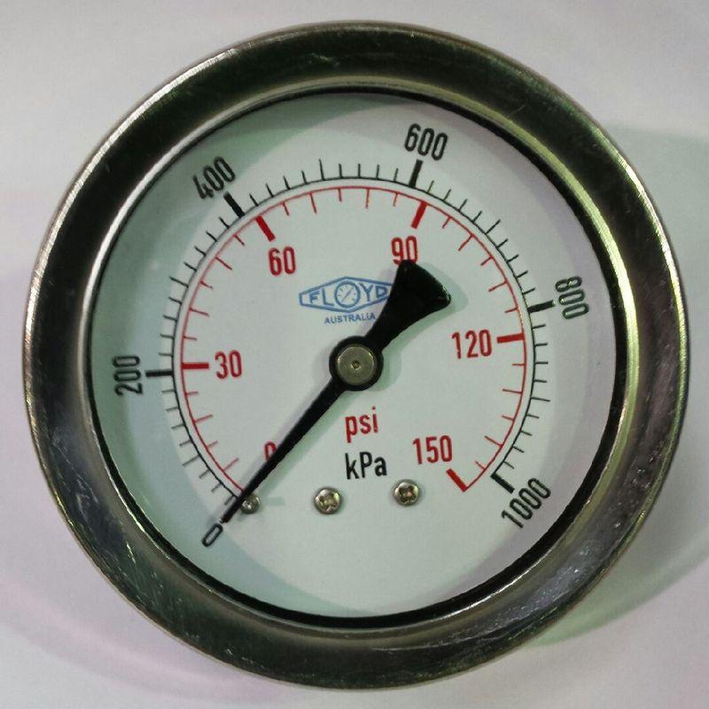Pressure Gauge  63mm Rear Entry  01000 kPa Stainless Steel
