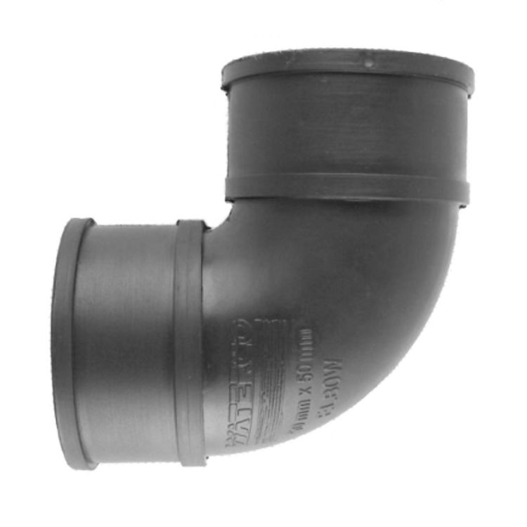 Waterco Rubber Coupling 50mm x 50mm 90 Elbow