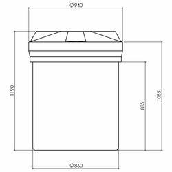 Chemical Tank 500 Litre Translucent HDPE Supertank