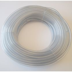 Chemical Tubing 5/8mm PVC Soft Clear 50m Roll