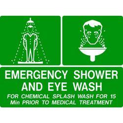 Emergency Shower  Eye Wash Safety Sign