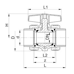 Georg Fischer GF Type 355 Ball Valve  40mm