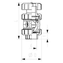 Georg Fischer GF Type 591 Vacuum Breaker Valve 15mm
