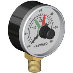 Hayward Pressure GaugeWith Adjustable PointersBottom Connection