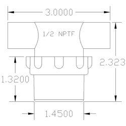 Inline Water Filter Low Profile Polypropylene Body NPT Clear Bowl  Blue SS Screen