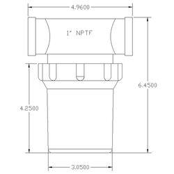 Inline Water Filter  LargePolypropylene Body  1 NPTClear Bowl  White SS Screen