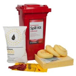 Liquid Chemical Spill Kit 120 Litre Wheeled Bin (Economy Model)