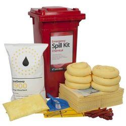 Liquid Chemical Spill Kit 120 Litre Wheeled Bin (Standard Model)