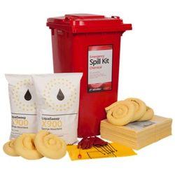 Liquid Chemical Spill Kit 240 Litre Wheeled Bin (Economy Model)