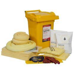 Liquid Chemical Spill Kit 60 Litre Wheeled Bin