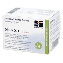 Lovibond Photometer Reagents Free Chlorine DPD1 500 Tablets