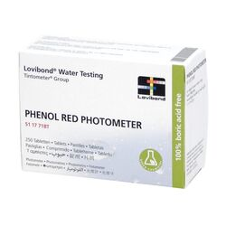 Lovibond Photometer Reagents pH PHENOL RED 250 Tablets