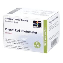 Lovibond Photometer Reagents pH PHENOL RED 500 Tablets