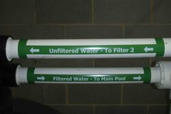 Pipe Label  Filtered Water To Pool Left