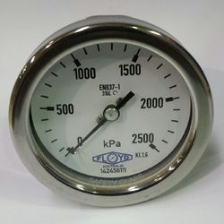 Pressure Gauge  100mm Rear Entry  02500 kPa Stainless Steel