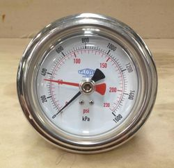 Pressure Gauge - 63mm Rear Entry - 0/1000 kPa Adjustable Pointer