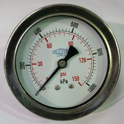 Pressure Gauge  63mm Rear Entry  01000 kPa Stainless Steel